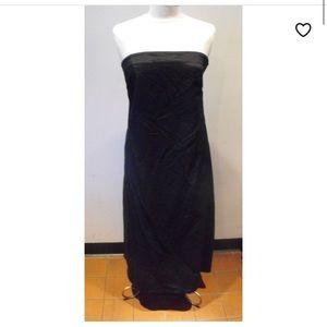 DKNY Strapless tea length ball gown
